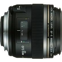 Canon EF-S 60mm f/2.8 Macro USM Macro Lens Body Only Lenses, Black