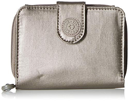 (Kipling Women's New Money Solid Wallet, Metallic Pewter, One Size)