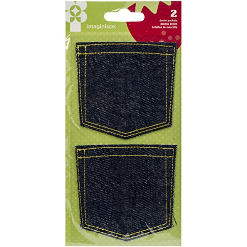 American Crafts 400701 2 Piece Imaginisce Heartland Farm Embellishments Denim Pockets