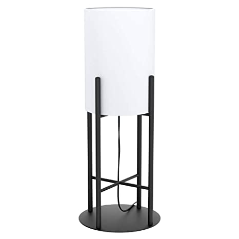 Lámpara de mesa (cristal, 20,5 cm de diámetro, 56,5 cm de altura ...