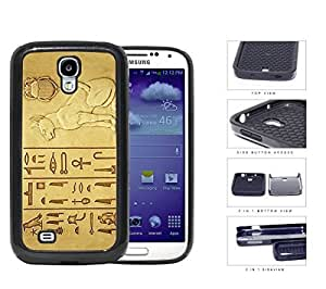 Egyptian Cat And Hieroglyphics 2-Piece Dual Layer High Impact Rubber Silicone Cell Phone Case Samsung Galaxy S4 SIV I9500