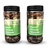 Ranch Blend Smoked Almonds – 18 oz Jar – (Two – 9 oz Jars) – by AgStandard – Non-GMO – Vegan – Gluten Free – Made without Refined Sugar For Sale
