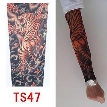 Junsi Old School Estilo Temporal Falsa Slip On Tatuaje Brazo Manga
