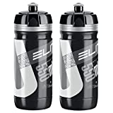 Elite Corsa Water Bottles - Black/Silver, 550ml/ea (2 Pack)