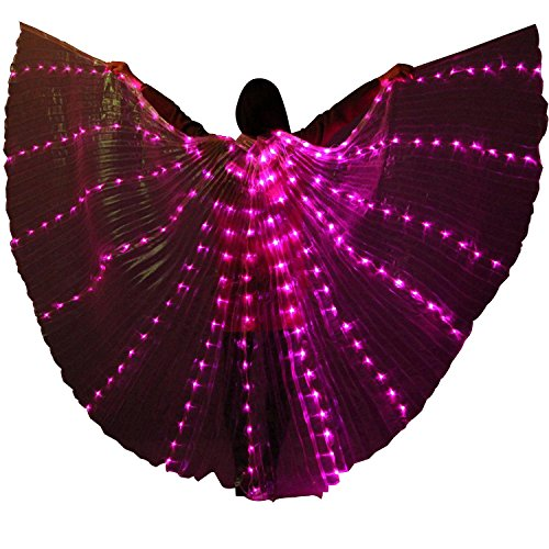 Besplore Women's Belly Dance Isis Wings,Costume Angle LED Isis Wings,Pink Light by Besplore