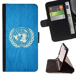 Stuss Case / Funda Carcasa PU de Cuero - Nacional bandera de la nación País de las Naciones Unidas - Motorola Moto E ( 2nd Generation )