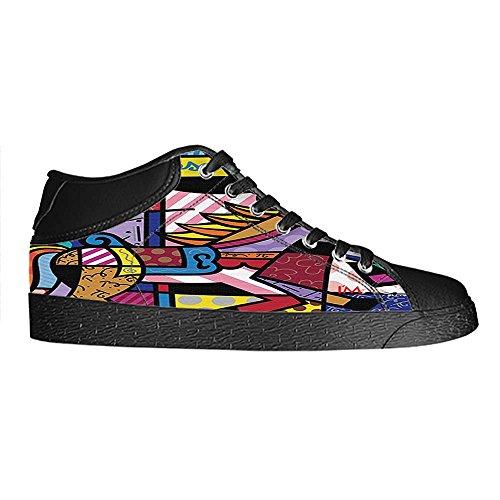 Dalliy Romero Britto Mens Canvas shoes Schuhe Lace-up High-top Sneakers Segeltuchschuhe Leinwand-Schuh-Turnschuhe E