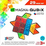 Magna-Qubix 29-Piece Clear Colors Set – The Original, Award-Winning Magnetic 3D Building Shapes – Creativity and Educational – STEM Approved