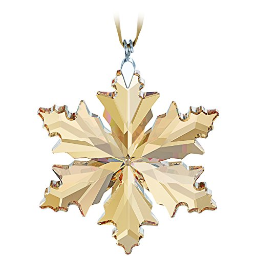 2014 Swarovski SCS Small/Little Annual (Gold Snowflake Glass Ornament)