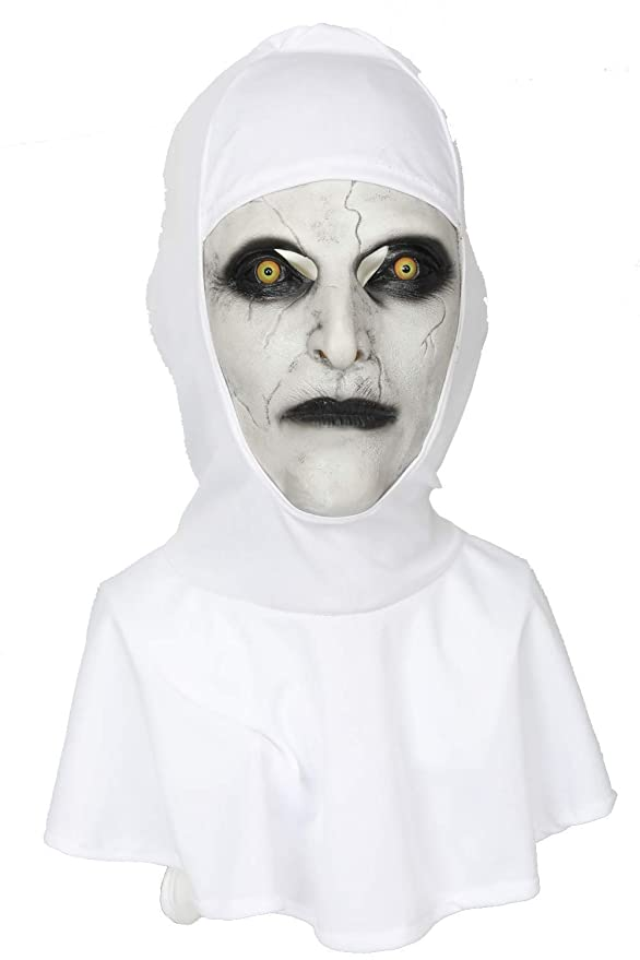 Mesky Valak Máscara Mask de The Nun Disfraz para Halloween Fiestas de Terror Navidad Terror Látex: Amazon.es: Deportes y aire libre