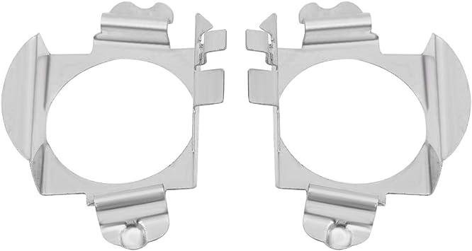 Keenso 2 Stücke Paar H 7 Led Scheinwerfer Lampen Adapter Halter Farbe Silber Auto