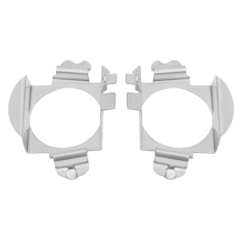 H7 Headlight Adapters, 2 Pcs Stainless Steel H7 LED Headlight Adapter Holder for Mercedes Benz Ford Keenso