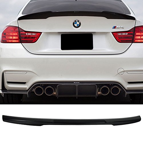 Trunk Spoiler Fits 2014-2017 BMW 4-Series F32 2Dr Coupe | M4 Style ABS Black Rear Deck Lip Wing Bodykits by IKON MOTORSPORTS ()