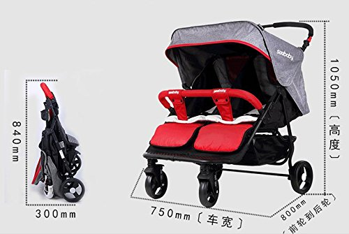 luxury baby stroller for twins,360 baby stroller,landscape baby trolley ,twins stroller,baby strollers double by vory (Image #8)