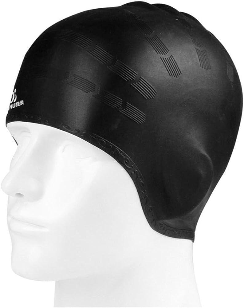 Coolster Unisex Flexible wasserdichte Silikon Badekappe Erwachsene Waterdrop Schwimmen Kopfabdeckung Sch/ützen Ohr Schwimmen Kappen