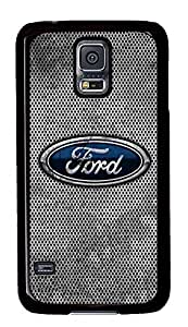 S5 Case, Galaxy S5 Case, Samsung Galaxy S5 Case - Hard PC Protective Ford Car Logo 7 Case Black Cover Heavy Duty Protection Shock-Absorption / Impact Resistant Slim Case for Galaxy S5 / Galaxy SV / Galaxy S V / Galaxy i9600