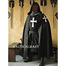 NAUTICALMART Medieval Knight Heraldry SCA Templar Hospitaller surcoat & Cloak