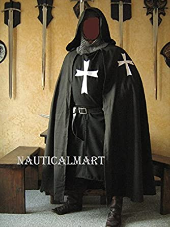 NAUTICALMART Medieval Knight Heraldry SCA Templar Hospitaller surcoat u0026 Cloak & Amazon.com: NAUTICALMART Medieval Knight Heraldry SCA Templar ...