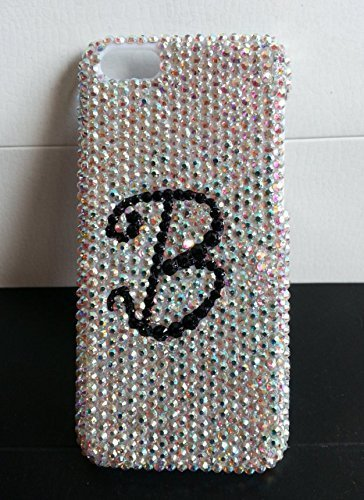 Custom Letter Crystal Phone Case iPhone 7 iPhone 6/6s iPhone 7 Plus Case initial AB Rhinestone (Iphone5s Case Crystal compare prices)