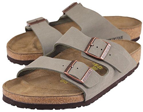 Birkenstock Print - Arizona 'Cork-Footbed w. Yellow Print' Women's Sandal, Narrow, Stone [Original], 40 N EU / 9-9.5 US Women