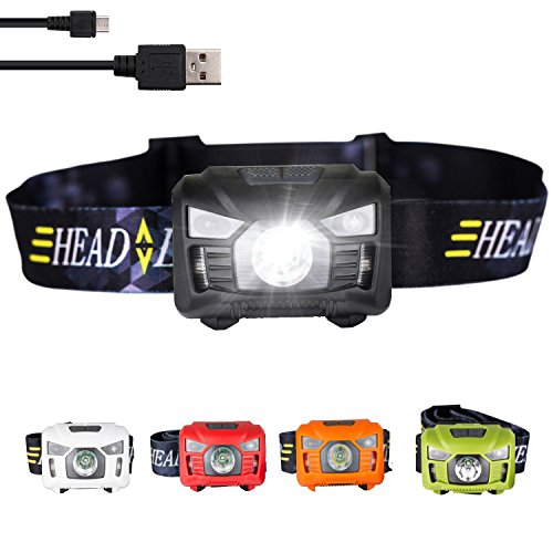 three trees Headlamp LED Flashilght – high Lumen,Brightest White Cree LED RedLight,5 Modes Walking,Waterproof,Rechargeable USB Cable Directly,Adjustable Headband,Batteries Included – DiZiSports Store