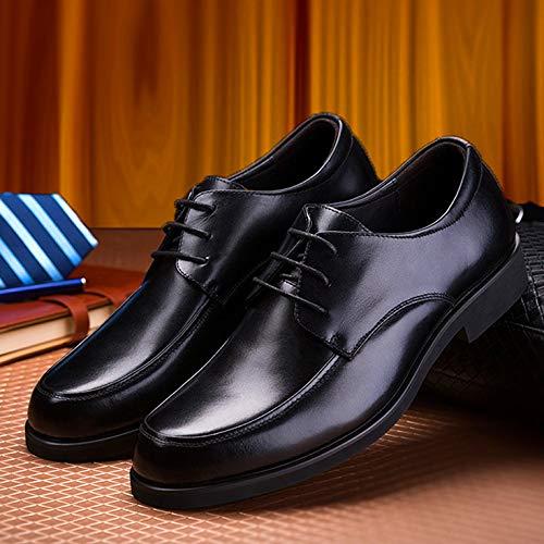 LOVDRAM Zapatos De Cuero De Los Los De Hombres Zapatos De Cuero De Negocios De Los Hombres del Otoño con Vestido Informal Zapatos Zapatos Zapatos De Trabajo Hombres, Negro, 41 e7590e