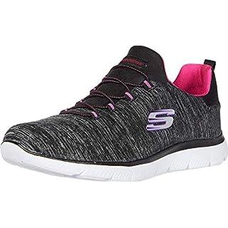 Skechers Summit - Quick Getaway Black/Pink 5.5 B (M)