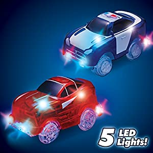 Magic Tracks Mega Set with 2 LED Race Car and 18 ft. of Flexible, Bendable Glow in the Dark Racetrack, As Seen on TV