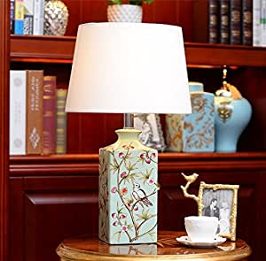 HH Chinese Lamp Living Room Bedroom Bedside Lamp Ceramic Wedding Fashion Lamps