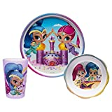 Shimmer and Shine Mealtime Set ~ 3 piece ~ Plate, Bowl, Cup
