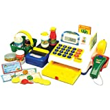 Powco Toys 46160 - Caja registradora electrónica de juguete con accesorios [importado de Inglaterra]