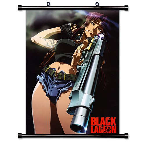 Black Lagoon Anime Fabric Wall Scroll Poster  Inches