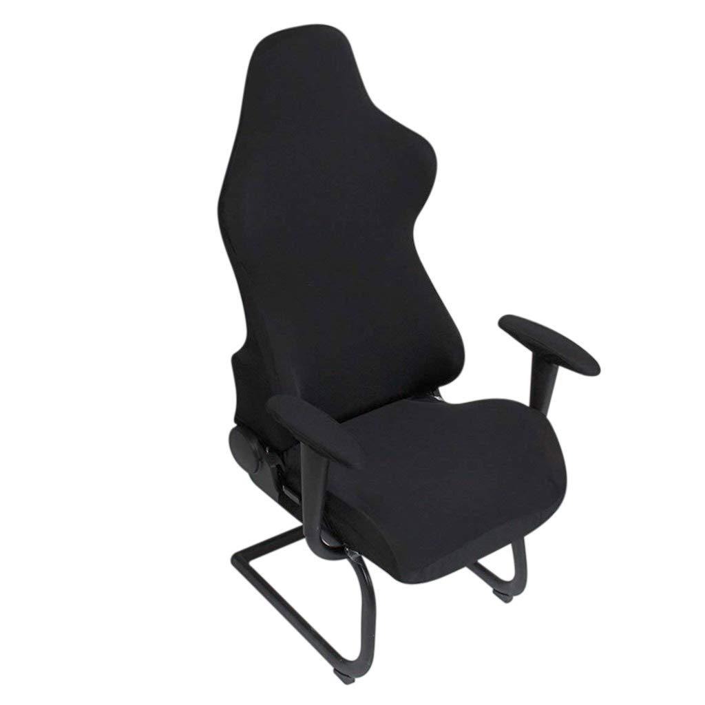 Amazon.com: BTSKY Ergonomic Office Computer Game Chair Slipcovers Stretchy Polyester Covers for Reclining Racing Gaming Gaming Chair Black (No Chair): Home ...
