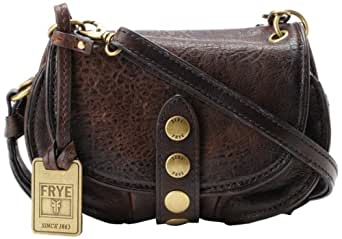 FRYE Elaine Vintage Crossbody Cross Body Dark Brown Antique Pull Up One Size