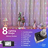 Woohaha LED Net Mesh Fairy String Decorative Lights 192 LEDs 9.8ft x 6.6ft with 30V Safe Voltage for Christmas Outdoor Wedding Garden Decorations