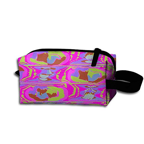 Makeup Cosmetic Bag Texture Wallpaper Pattern Medicine Bag Zip Travel Portable Storage Pouch For Mens (Texture Essentials Wallpaper)