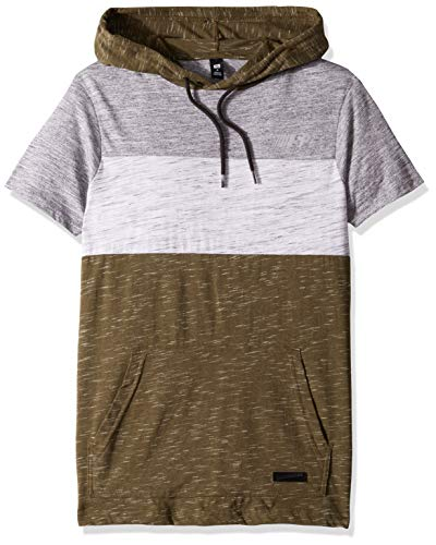 - Southpole Men's Short Sleeve Tech Tee, Marled Olive Hoodie, Small