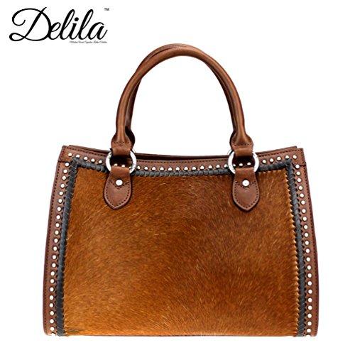 new-montana-west-horse-delila-100-genuine-leather-hair-on-hide-satchel-purse