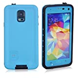 TLB for Samsung Galaxy S5, Waterproof Shockproof Snow Proof Dirt Proof Durable Full Protection Case Cover(Blue)