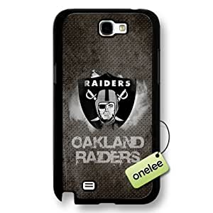 NFL Oakland Raiders Team Logo Samsung Galaxy Note 2 Black Hard Plastic Case Cover - Black