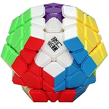 Mahvi Toys Shengshou Mega Minx 12 Sided Stickerless 3x3 Magic Speed Rubix Cube Puzzle (Multicolor)