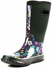 OwnShoe Womens Mid Calf Winter Snow Neoprene Rain Boots