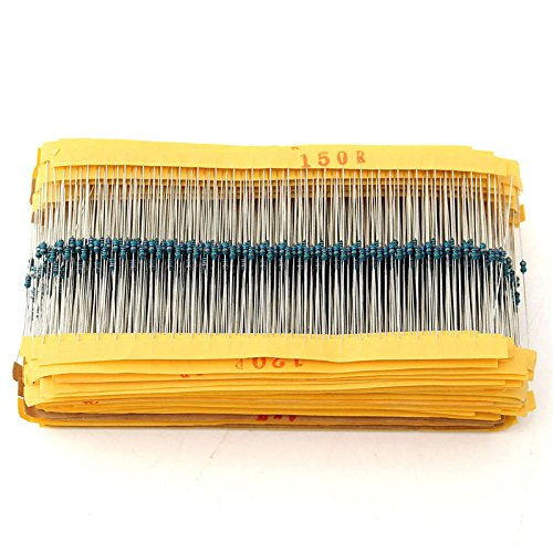 Quickbuying Excellent Professional Metal Film Resistor 1% 1/8W 0.125W Kit 2425pcs Resistor Assortment Kit Assorted Value Pack ()