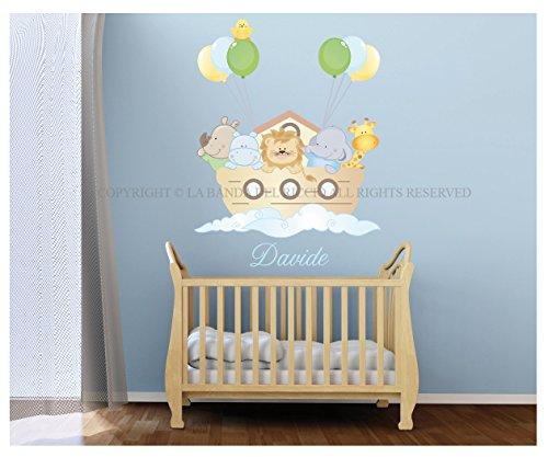 Baby Wall Decal Nursery Noahs Ark Wall Decal Kids Wall Stickers - Wall decals noah's ark