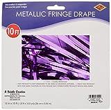 Pkgd 1-Ply FR Metallic Fringe Drape (purple) Party Accessory  (1 count) (1/Pkg)