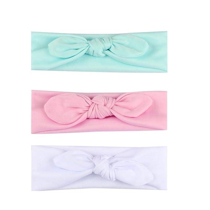 3PCS Baby Hairband Ribbon Bow-knot Band Infant Newborn Photography Headband Bow