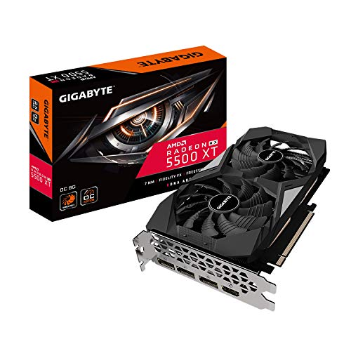 GIGABYTE Radeon RX 5500 XT OC 8G Graphics Card, PCIe 4.0, 8GB 128-Bit GDDR6, GV-R55XTOC-8GD Video Card