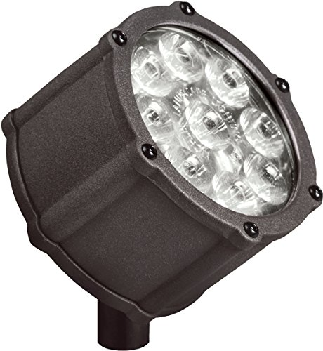 Kichler Lighting 15751AZT LED Accent Light 9-Light Low Voltage 10 Degree Spot Light, Textured Architectural Bronze with Clear Tempered Glass Lens