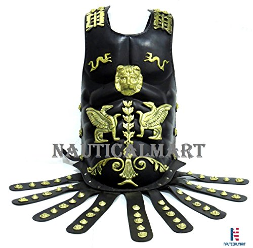 NAUTICALMART Leather Medieval Muscle Armor Collectible Wearable Roman Heavy Chest Plate Armor