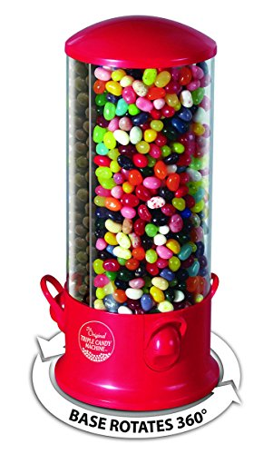 Triple Candy Machine Dispenser Machine 3 Compartments Gumball Gum Ball Snacks by candy vending machine
